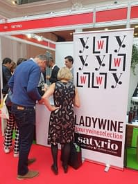 Lady Wine and Satyrio stand at Welcome Italia 2019
