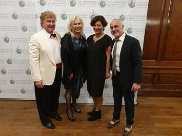 Lady Wine and Satyrio with the judges at The Champagne & Sparkling Wine World Championship 2019