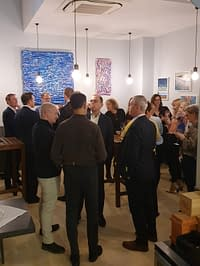 Art &wine are all around at Satyrio restaurant: Italian modern painting now exhibiting in Central London